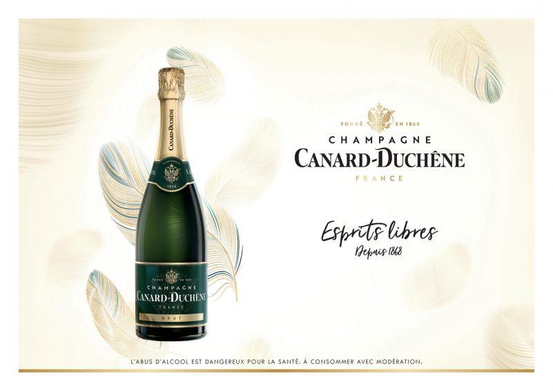 Canard Duchêne_champagne_visuel publicitaire
